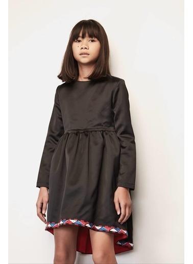 Stella Jean Kız Çocuk Siyah Elbise Siyah